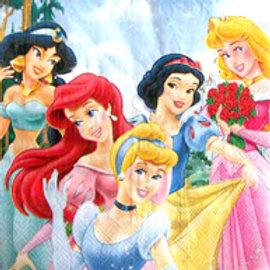 Disney Princess party Sparkling napkins pack 16
