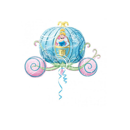 Cinderella foil Balloon   Cinderella Carriage   Cinderella party supplies   24-7 Party Paks