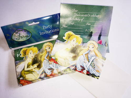 Disney Fairies and Tinkerbell themed SALE Invites