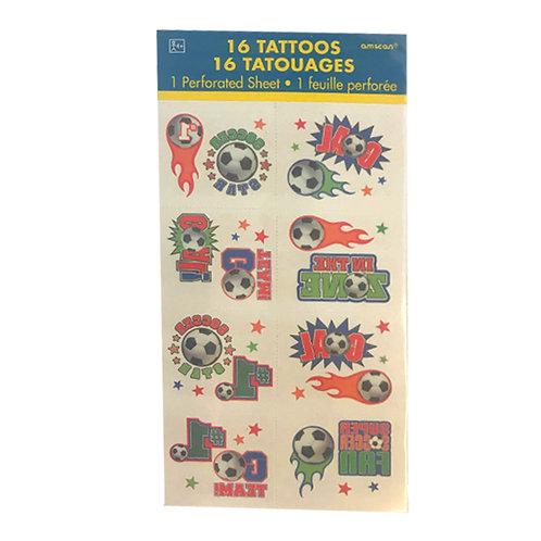 Soccer themed temporary tattoos