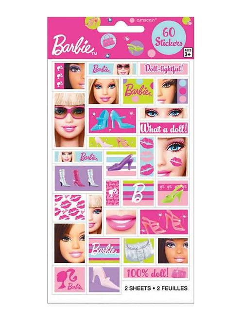 Barbie party stickers barbie party bag fillers party prize stickers