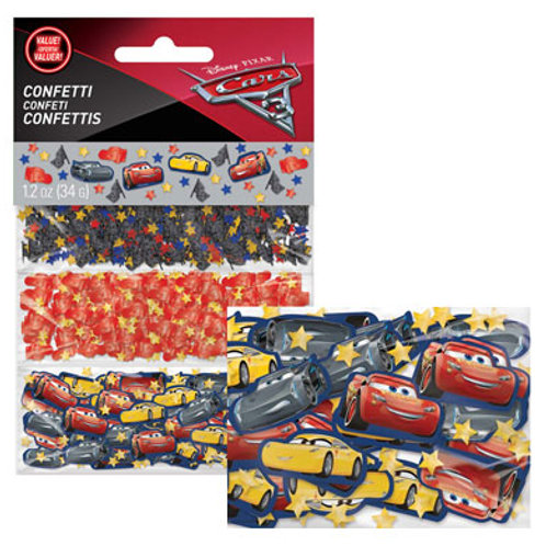 Disney Cars party confetti pack for decorating party tables