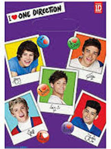 One Direction 1D party loot bags pk 8