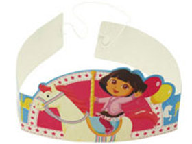 Dora the Explorer party hats tiara style pack 6 | 24-7 Party Paks
