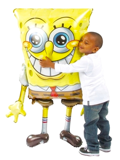 Spongebob Squarepants giant airwalker foil balloon fill with air or helium