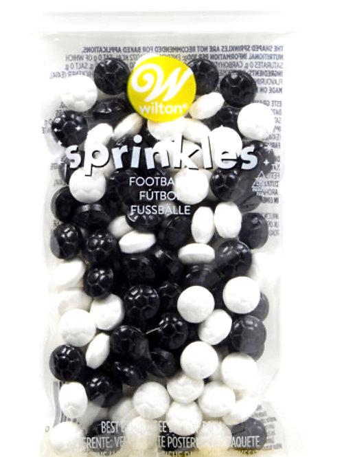 Soccer ball edible sprinkles decorations