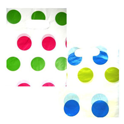 Spotty party loot bag pack 10 kids party bags