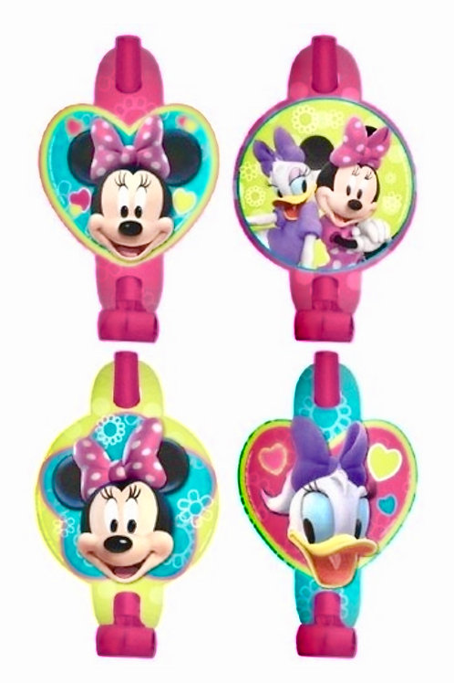 Minnie Mouse party blowouts pack 8