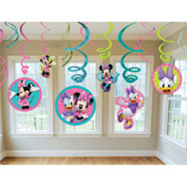 Minnie Mouse swirls - hanging party decoration