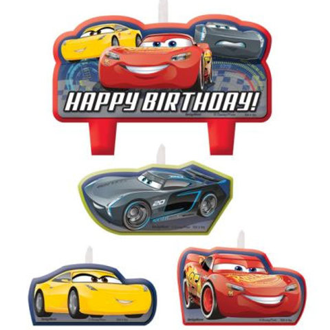 Disney Cars 3 party birthday candles set of 4