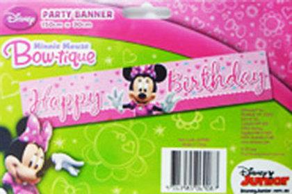 Minnie Mouse birthday banner decoration
