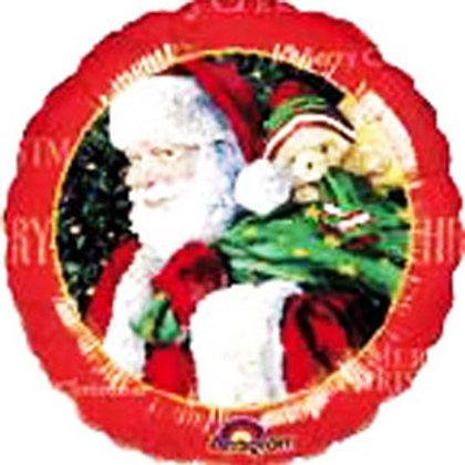 Santa Claus foil balloon uninflated 22cm christmas
