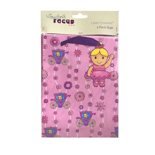 Lovely Chubblies ballerina party bags pack 6