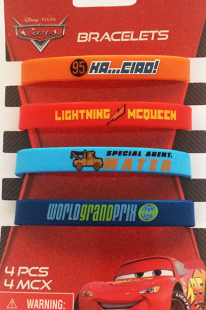 Disney Cars party favor wristbands for mates pack 4 on Sale $2