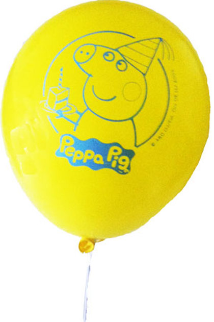Peppa Pig party balloons pk 6 - Peppa Pig party