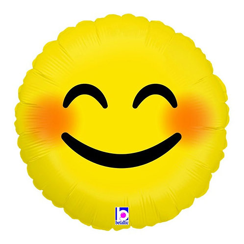 Emoji Smiley face foil balloon 46 cm uninflated