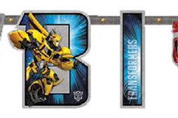 Transformers birthday banners 10 feet changeable age