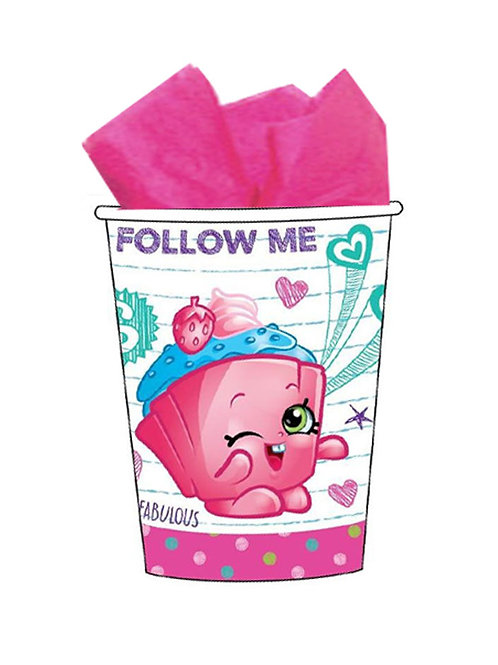 Shopkins party cups pack 8 disposable drink cups