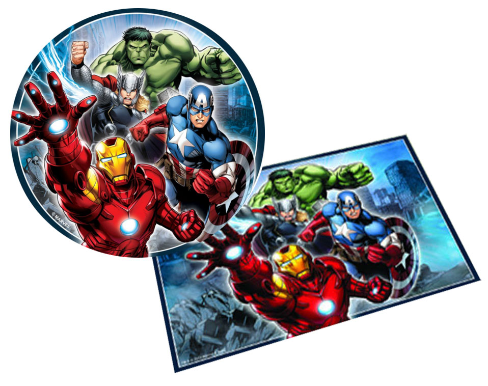 Avengers party supplies - Avengers cake toppers