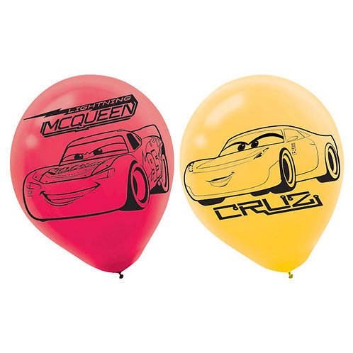 Disney Cars 3 party balloons pack 6