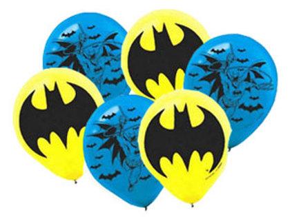 Batman birthday party balloons pk 6