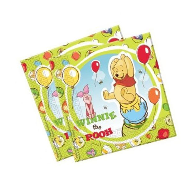 Winnie the Pooh Piglet party napkins pack 20 diposable paper serviettes