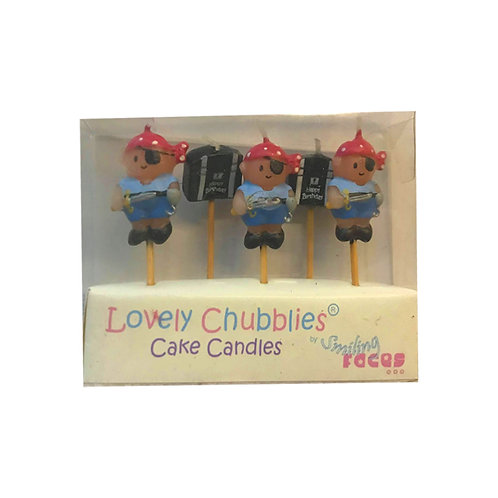 Lovely Chubblies Pirate Treasure Birthday Cake Candles