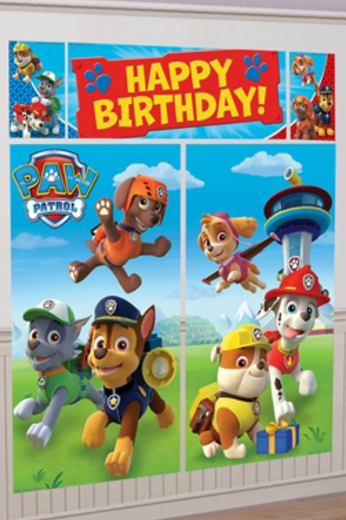 Paw Patrol birthday party Scene Setter wdecoration