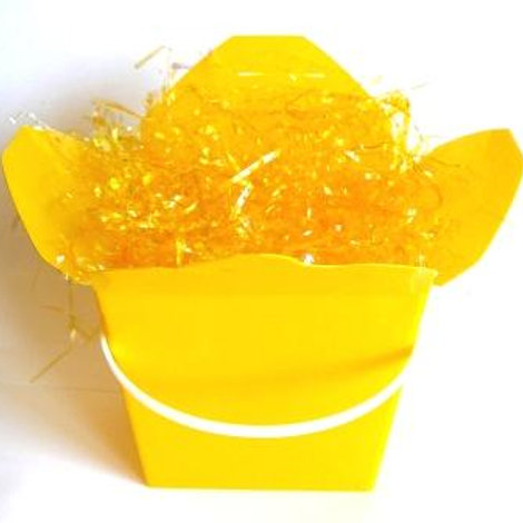 Easter decoration shred yellow cellophane 42 grams