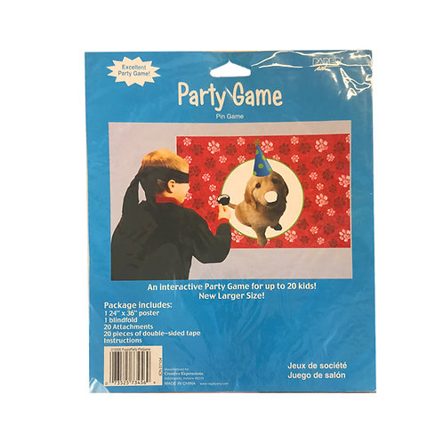 Party Pups Pin the Nose on the Dog Party Game