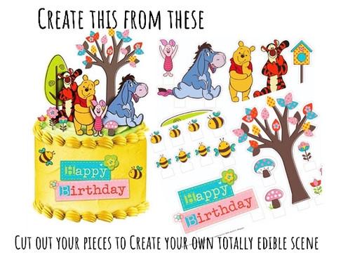 Winnie The Pooh Birthday Cake Decorations