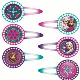 1 x pack of 12Disney Frozen plastic glitter hair clips | girls party favors | disney frozen party favors