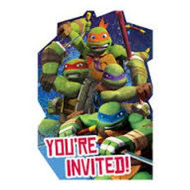 Teenage Mutant Ninja Turtle birthday party invites