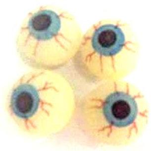 Halloween bouncey eyeballs kids party favors pk 13