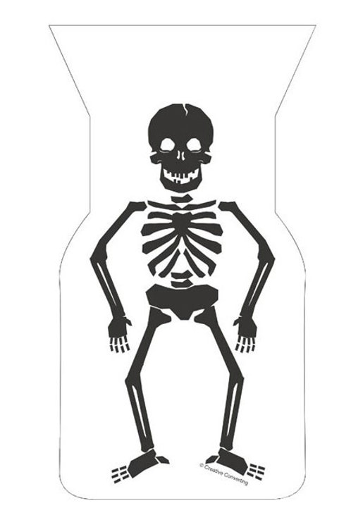 Halloween Skeleton cellophane kids party bags pack 20 | Kids Halloween party shop online Australia | 24-7 Party Paks