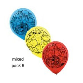 Toy Story 4 party balloons pack 6   Toy Story balloons   kids party balloons