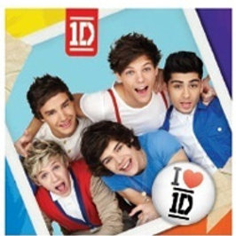One Direction 1D party napkins pk 8