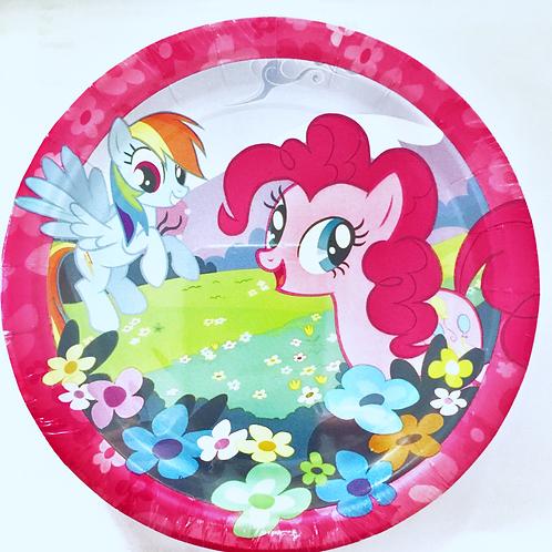 My Little Pony Friendship Magic party plates pk 8 Snack