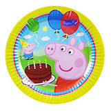 Peppa Pig birthday party theme, Peppa Pig party plates, party cups, party napkins and party loot bags. Peppa Pig party balloons cupcake decorating kits