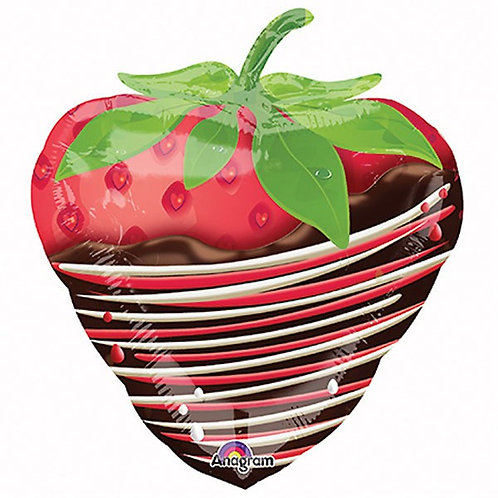 strawberry dipped in chocolate shaped foil balloon - Valentines day