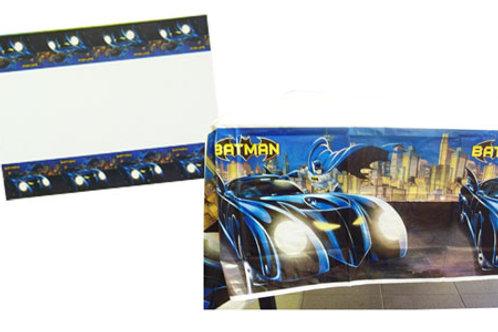 Batman party Tablecover - plastic disposable blue