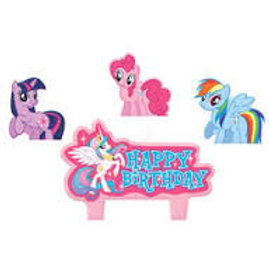 My Little Pony birthday candle set 4 pieces