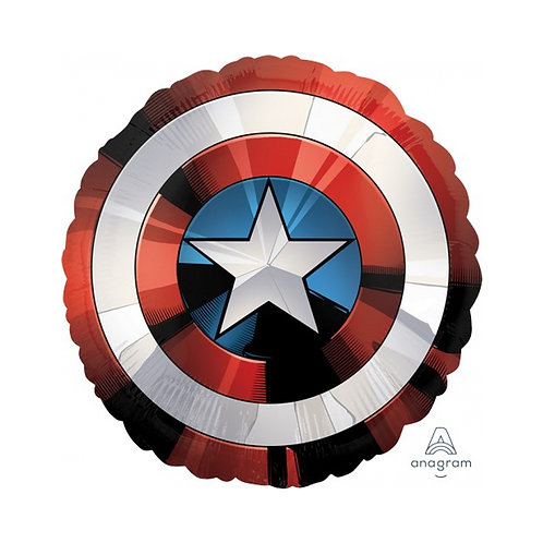 avengers character captain america shield shaped foil balloon