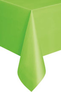Lime Green plastic tablecover rectangle