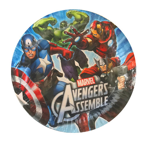 Avengers party plates pack 8
