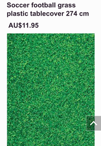 Green as Grass plastic tablecover 274 cm