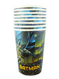 Batman birthday party cups pack 8 disposable