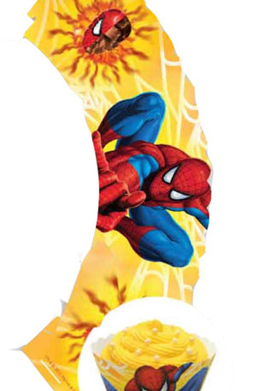 Spiderman cupcake wrappers pk 12 decorative wraps