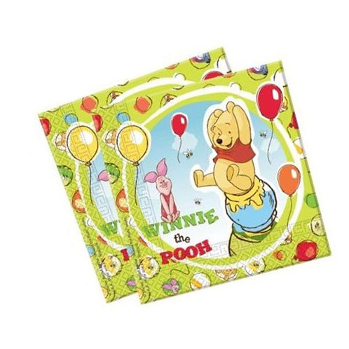 Winnie the Pooh party napkins | Winnie the Pooh party supplies | 24-7 Party Paks