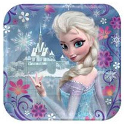 Disney Frozen party plates pack 8 Square 17.8 cm
